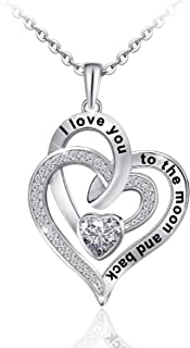 Heart Necklace for Women 925 Sterling Sliver Heart...