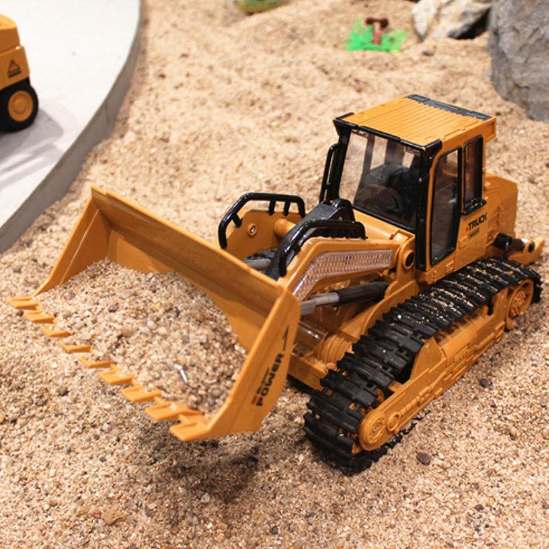 協同コンバーチブル期待してRCおもちゃ愛好家が子供たちと遊ぶことができるように、重い大型の遠隔操作のトラクターのおもちゃ、1:12 7色、点滅する電気シミュレーションショベルのおもちゃ