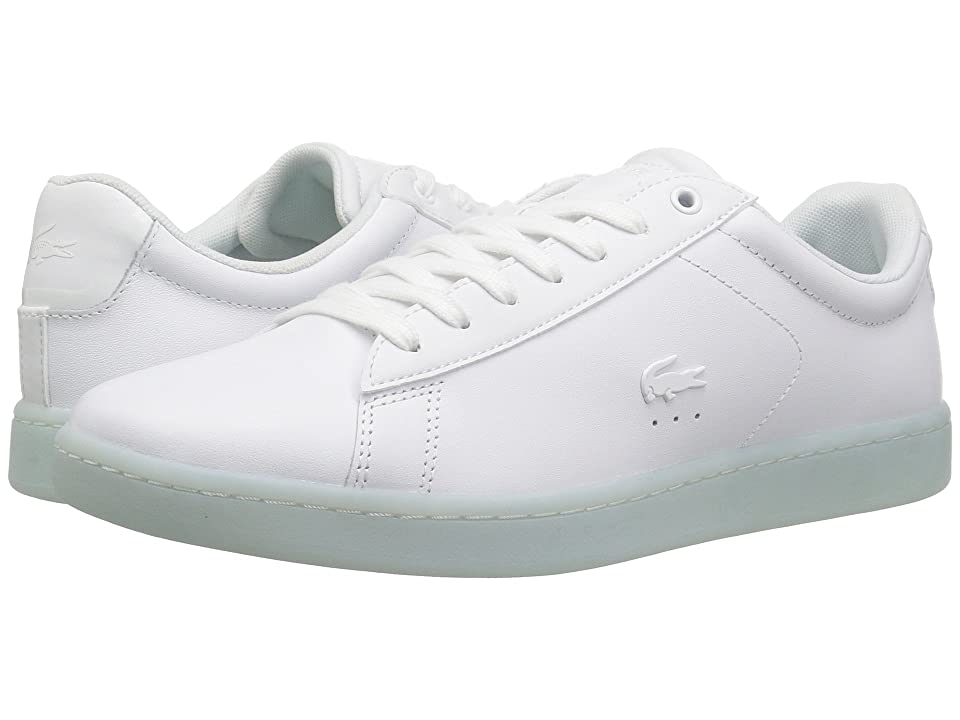 Lacoste Carnaby Evo 118 3 (White/Light Blue) Women
