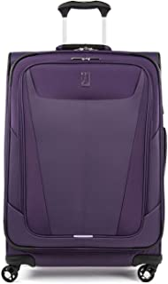 Travelpro Maxlite 5 Softside Expandable Spinner Wheel Luggage, Imperial Purple, Checked-Medium 25-Inch