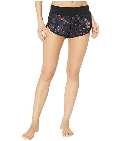 Hurley Phantom Clark Little Lava Beachrider Swim Shorts (Black) Women