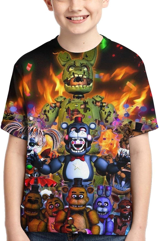 GOYELHTT Cartoon T Shirt, 3D Print Shirt, Short Sleeve Tees for Boys, Girls, Kids, Youth