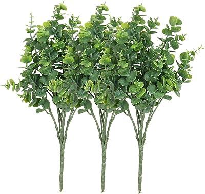 12pcs Mezly Artificial Silk Ficus Tree Branches Faux Fake Lamination Green Leaves Arrangements Anti-UV Home Garden Office Market Restaurant Wedding Decor