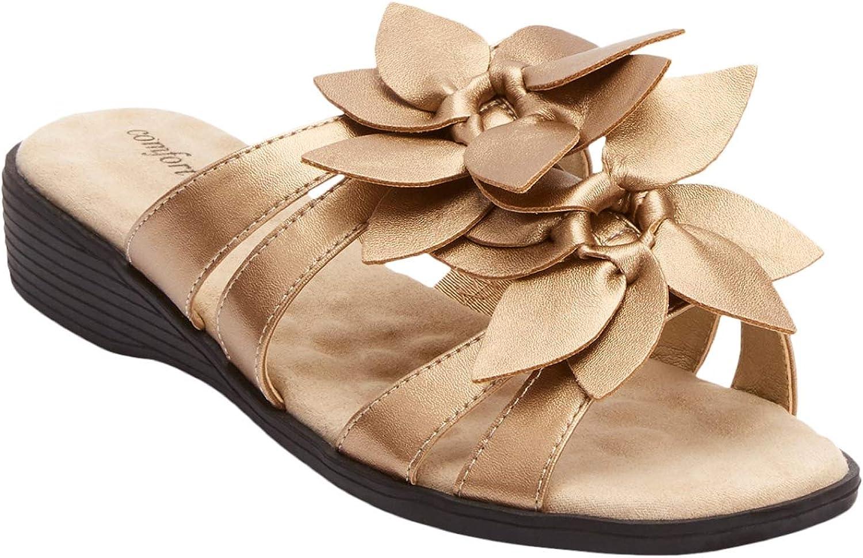 Comfortview ※ラッピング お歳暮 ※ Women's Wide Width Sandal The Paula