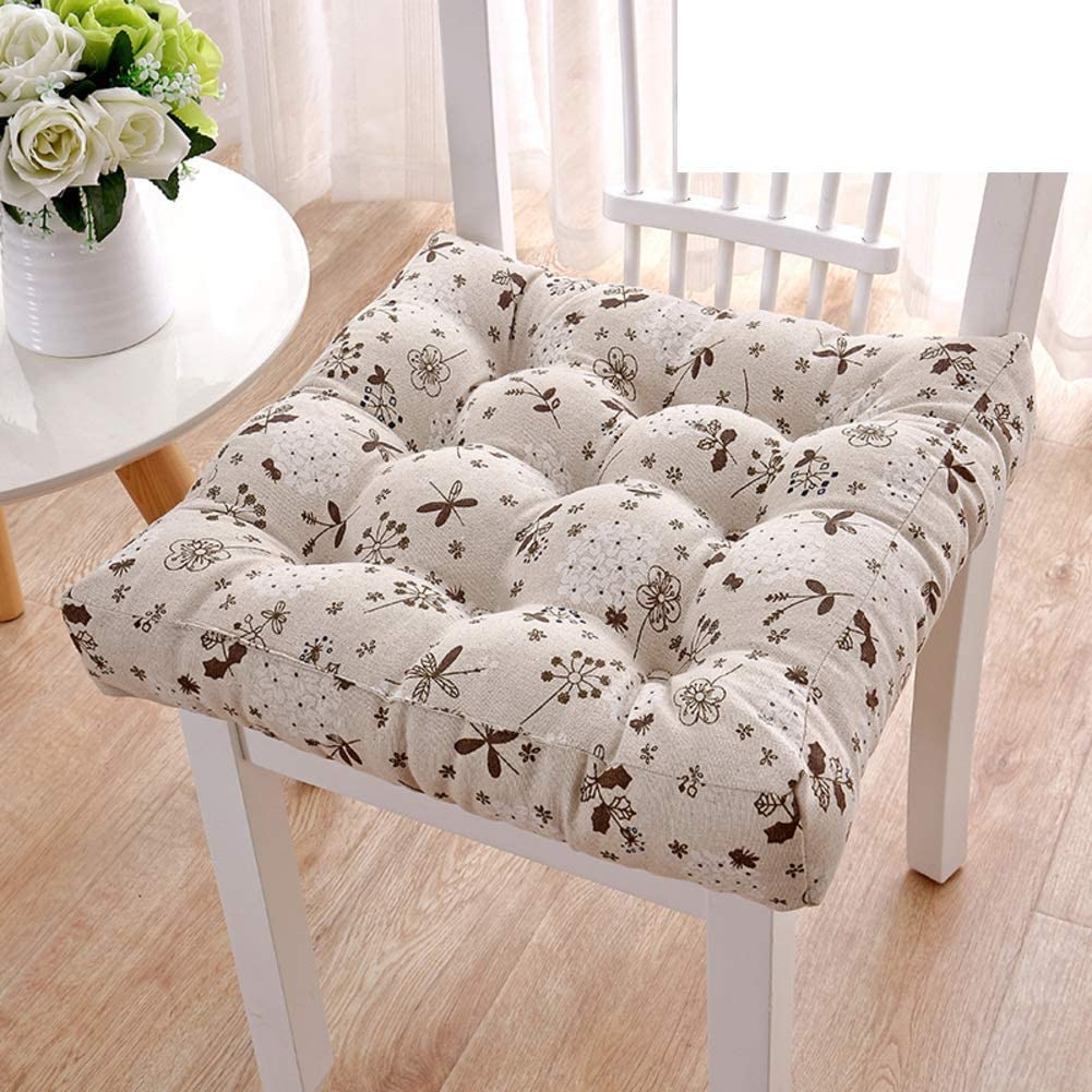erddcbb Weekly update Recommended Plush Thicken Chair Pad Seat Tufted pad Cushion Outdoor