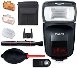 Canon Speedlite 470EX-AI Flash with Cleaning Pen + Dust Blower + Remote Control + Accessory Bundle