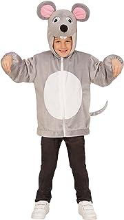 WIDMANN 97467?Disfraz para niños Ratón de Peluche, Chaqueta con Capucha y máscara