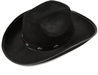 Fun Central Felt Studded Cowboy Hat Party Favor Supplies - Black