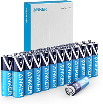 24-Count Anker Alkaline Leak-Proof AA Batteries