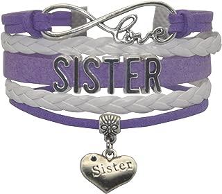 Big Middle Little Sister Bracelet - Cute Heart My Sister Charm Bracelet For Sister, Women, Girls