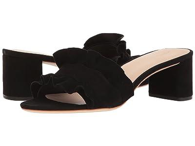 Loeffler Randall Vera Ruffle Sandal Mule (Black Suede) Women