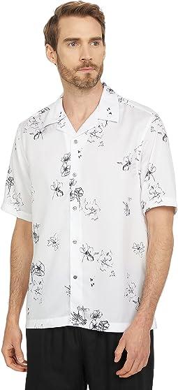 Runslo Short Sleeve Squiggle Print Shirt