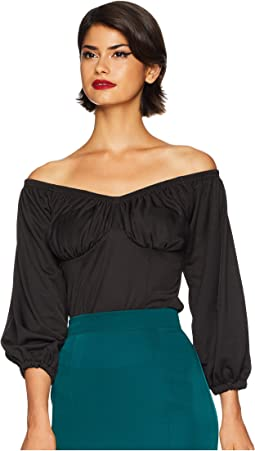 Micheline Pitt For Unique Vintage Off Shoulder Top
