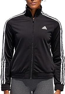 adidas Womens Essentials Tricot Track Jacket(Black,X-Large)
