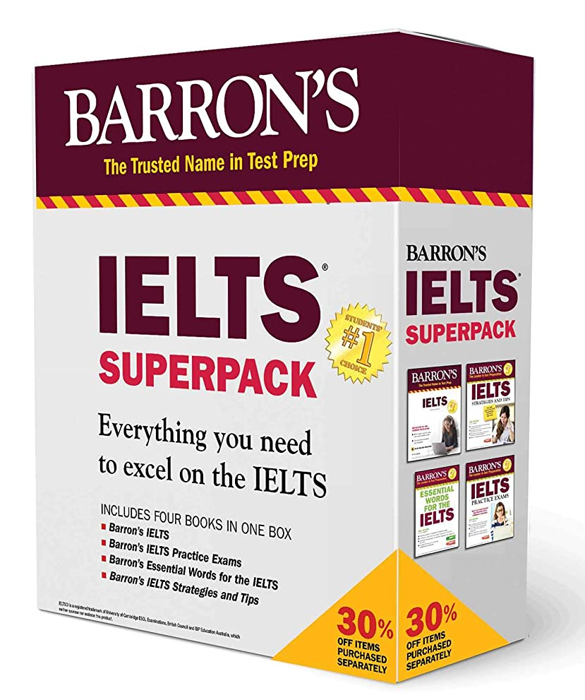 落ちた敷居可愛いIELTS Superpack (Barron's Test Prep)