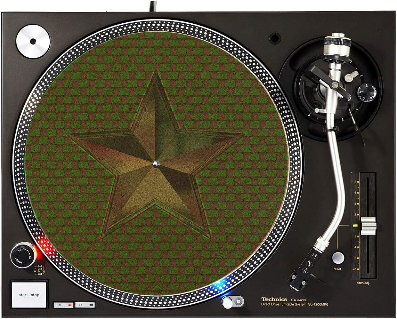 DJ Turntable Premium Cork - Slipmat Green Star Don't miss the Rare campaign