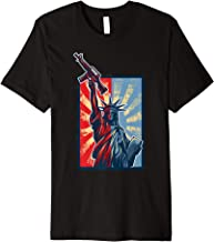 Statue of Liberty holding Gun 4th of July Patriotic T-Shirt