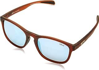Revo Unisex RE 5019 Hansen Rectangular Polarized UV Protection Sunglasses, Matte Dark Crystal Frame, Blue Water Lens