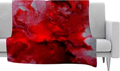 Kess InHouse Claire Day Dark Red Maroon Fleece Throw Blanket 60 by 50-Inch 60 X 50