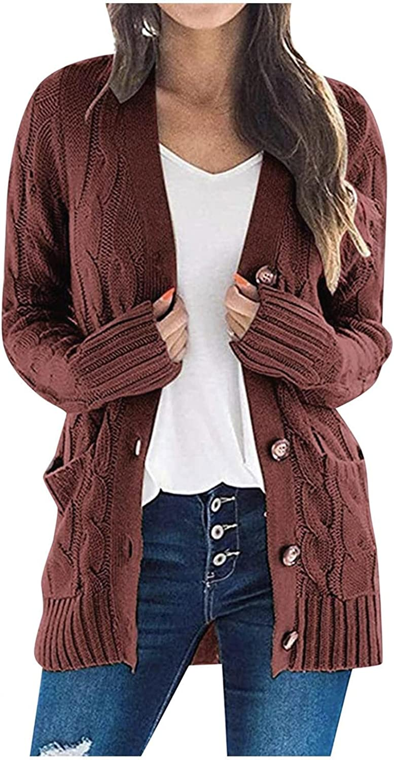 Women's Knitted Sweater Cardigan In a popularity Long Sweatshirt Ranking TOP13 Sleeve But