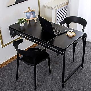 طاولة طعام مثبتة على الحائط، طاولة قابلة للطي، رف كتب متعدد الطبقات قابل للتغيير، رفوف قابلة للسحب، D