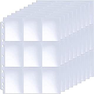 ABLY 540 Pockets Double-Sided Trading Card Pages Sleeves 9-Pocket Clear Plastic Game Card Protectors for Skylanders, Pokem...
