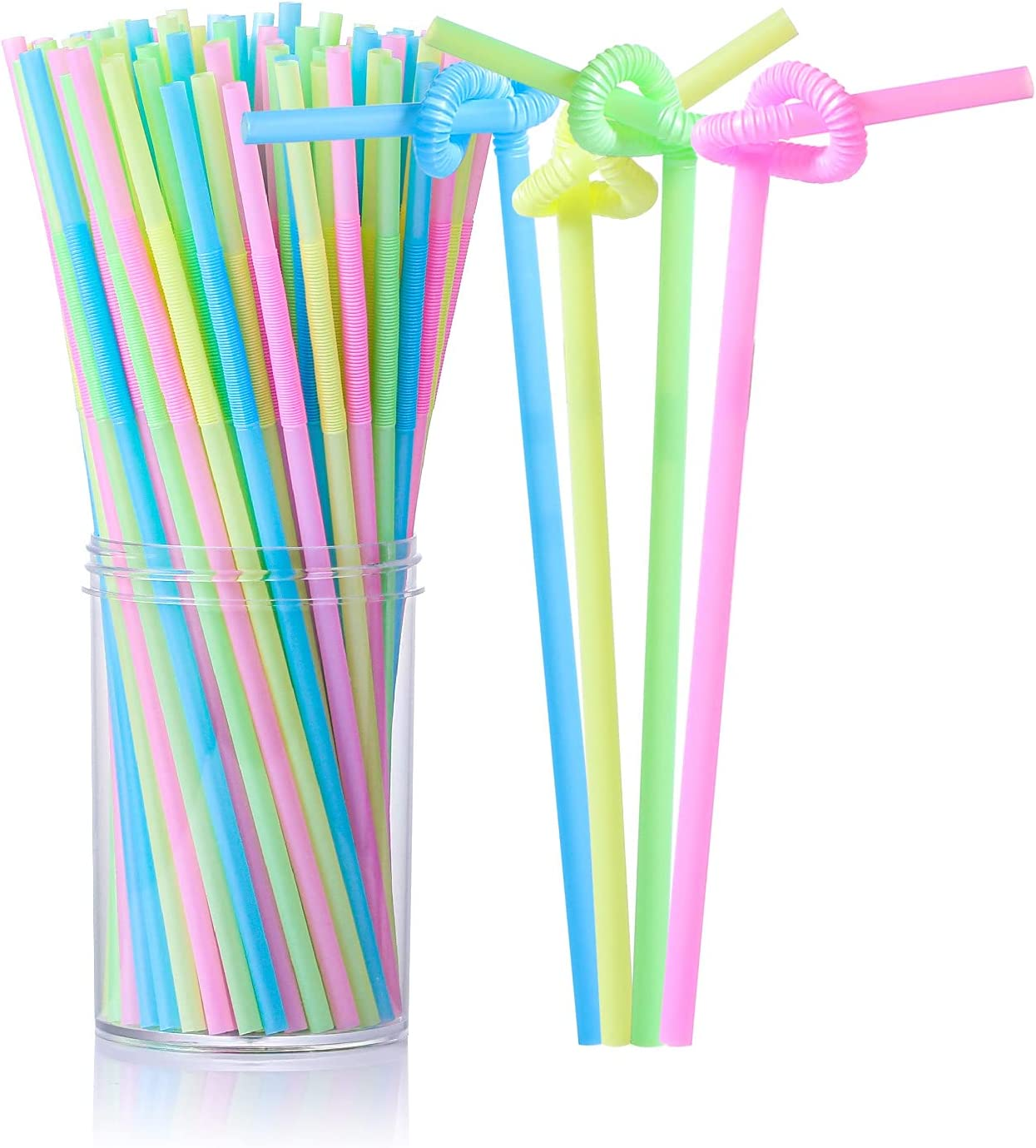 Lekoch Disposable Plastic Straws Alternative Popular product Clearance SALE Limited time 100 Pack Color Dis