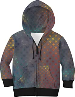 Rainbow Rules Galaxy Far Away Kids Zip Up Hoodie Unisex