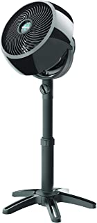 Vornado 7803 Large Pedestal Whole Room Air Circulator Fan with Adjustable Height, Front-Facing Controls, 3 Speed Settings, Multi-Directional Airflow, Removable Grill for Cleaning, Black (Renewed)