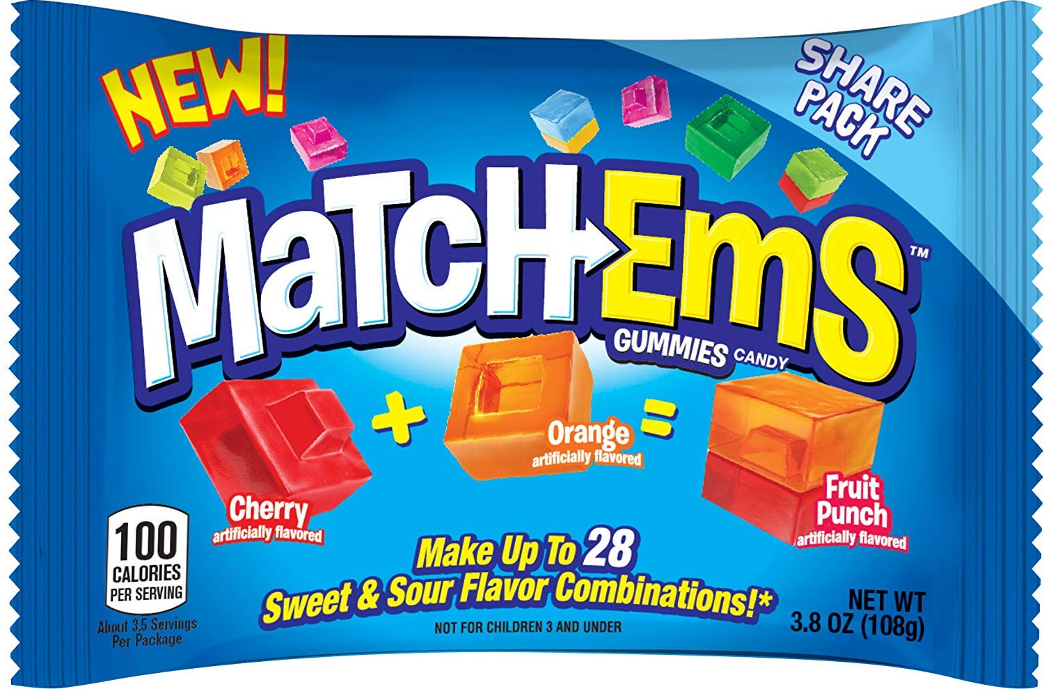 Match-Ems Gummies Candy From Bazooka Mix Assor Connect Match Max 49% OFF Max 53% OFF