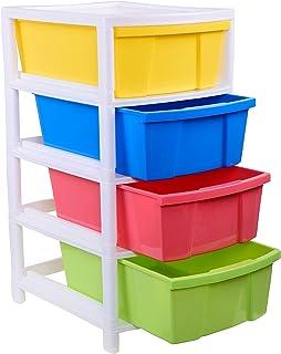 ARISTO Everest Multipurpose 4 Drawer Plastic Modular ARISTO Chest Storage Organizer, multicolour, Standard