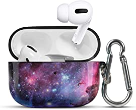 HIDAHE Airpod Pro Case, Cute Luxury Airpods Pro Skin, Apple Airpod Pro Case,Hard Design Protective Airpods Pro Case for Girls Kids with Keychain Compatible with Apple AirPods Pro,Nebula