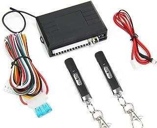 汎用 12V キーレスエントリーキット キーレスキット スライド式 アンサーバック機能付き/ダミーセキュリティ付き リモコン2個付属 / 93-282