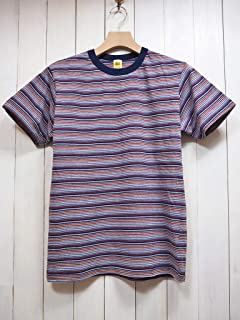 VELVA SHEEN(べルバシーン) LATE 90's DEADSTOCK STRIPE TEE デッドストックボーダーTシャツ #161912 (ネイビー×バーガンディー) 半袖/メンズ/カジュアル/USA製