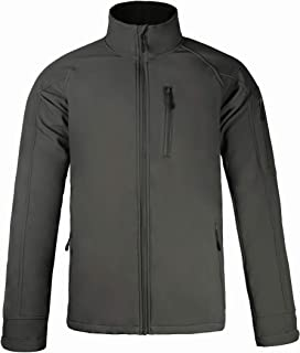 MIERSPORTS Men's Softshell Jacket Water-Resistant Fleece Lined Jacket, 6 Pockets