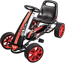 Kinbor Go Kart Pedal Car Pedal Powered Ride On Toys for Boys Girls with Adjustable Seat
