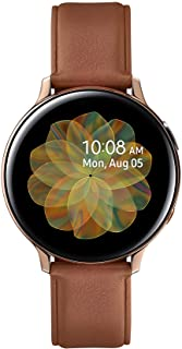 Samsung Galaxy Watch Active 2 (Bluetooth + LTE, 44 mm) - Gold, Steel Dial, Leather Straps