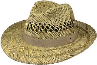 Lipodo Cappello di Paglia Classic Uomo - Made in Italy Estivo Fedora da Sole con Nastro Grosgrain Primavera/Estate