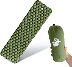 Legit Camping Sleeping Pad - Camping Pad for Backpacking and Camping - Inflatable Sleeping Mat Holds The Air in for Longer Hours - Compact Camping Mat for Best Outdoor Sleep - Rolls Tight