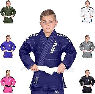 IBJJF Ultra Light BJJ Brazilian Jiu Jitsu Gi for Kids w/Preshrunk Fabric & Free Belt
