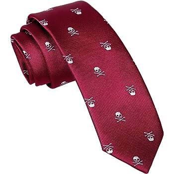 Corbata con forma de calavera de los hombres de Enjoymore 6cm ...