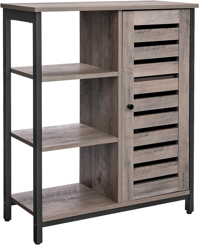 VASAGLE Sideboard, Küchenschrank mit 21 offenen Ablagen, Badezimmerschrank,  Wohnzimmer, Flur, Küche, Homeoffice, Stahlgestell, Industriestil, ...