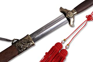 ICNBUYS Chinese Sword Vintage Tai Chi Pattern Flexible with Free Carrying Case Overall Length 35.5