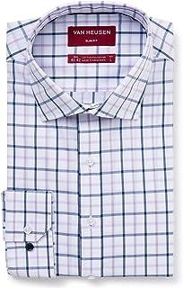 Van Heusen Men's Slim Fit Check Business Shirt