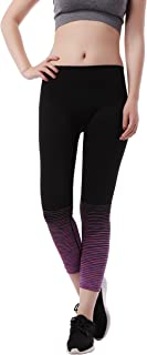 Girls Leggings High Waisted Seamless Stretch Pant