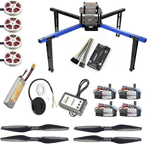 tienda de venta en línea JMT JMT JMT X550 550MM Wheelbase Aluminum Tube Rack Frame Kit APM 2.8 MINIPIX Flight Control 750KV Motor 1355 Props DIY GPS Drone RC Hobby Models (APM FC with Battery)  productos creativos