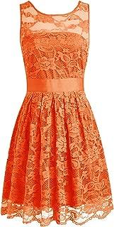 CladiyaDress Women Sheer Neck Lace A Line Short Bridesmaid Dress Party Gown D240LF