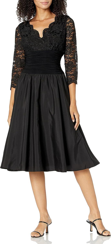 Jessica Howard Women's Petite Surplus Bodice Ruched Waist Dress with Shirred Skirt