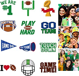 LUOEM 72 Pcs Football Face Tattoos Super Bowl Temporary Tattoo Football Sports Face Body Stickers for Football Birthday Theme Party Sports Event Game Party Favor Supply - 6 Sheet