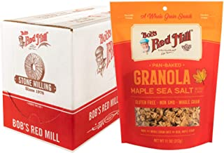 Bob's Red Mill Pan-Baked Maple Sea Salt Granola, 11-ounce (Pack of 6)